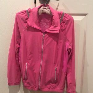 Pink lululemon wind breaker